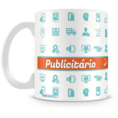 Caneca Personalizada Porcelana Profissão Publicitário