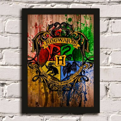 Quadro Poster Casas Harry Potter
