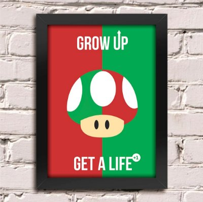 Poster Grow Up Super Mario