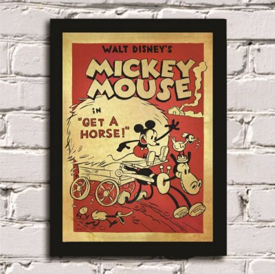 Quadro Poster Mickey Mouse Vintage
