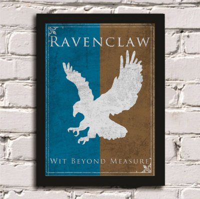 Quadro Poster Harry Potter Casa Corvinal