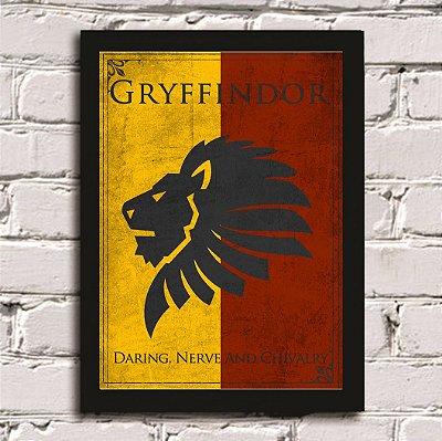 Poster Harry Potter Casa Grifinória