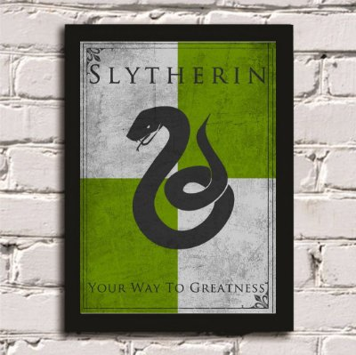 Quadro Poster Harry Potter Casa Sonserina