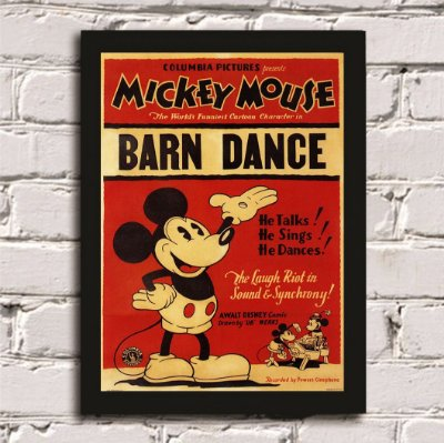 Quadro Poster Mickey Mouse Barn Dance