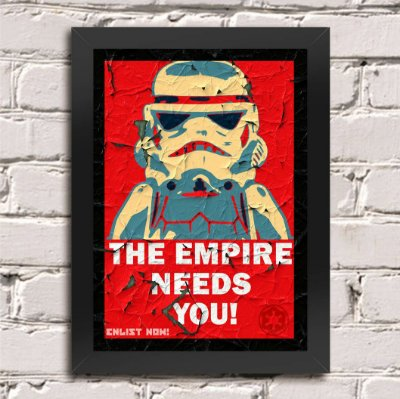 Quadro Poster Star Wars The Empire Needs You