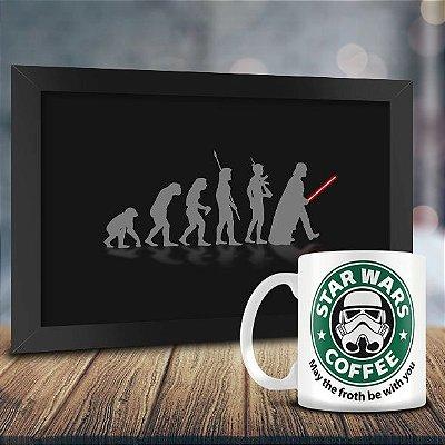 Caneca Personalizada Stormtrooper Star Wars Coffee + Quadro Evolução Geek