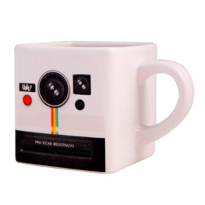 Caneca Quadrada Photo Retrô Polaroid