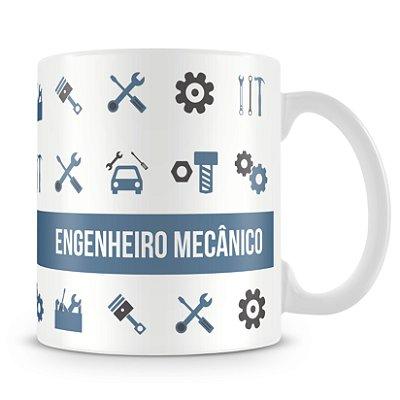 Caneca Personalizada Porcelana Profissão Engenheiro Mecânico (Com Nome)