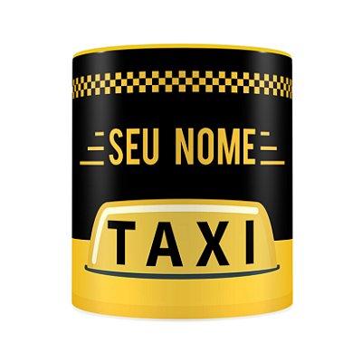 Caneca Personalizada Porcelana Profissão Taxista (Com Nome)