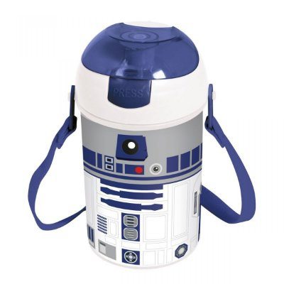 Garrafa Bico Retrátil Star Wars R2D2