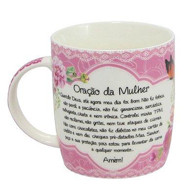 Caneca Personalizada Porcelana Oração da Mulher