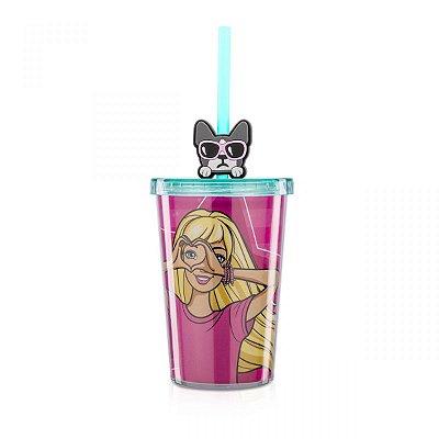 Mini Copo com Pingente Barbie Love