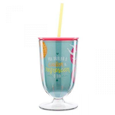 Taça com Canudo Verão Tropical