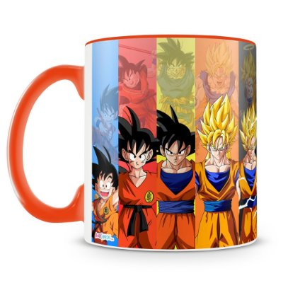 Caneca Personalizada Porcelana Dragon Ball Goku (Laranja)