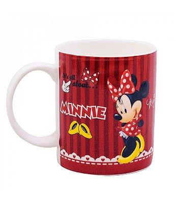 Caneca de Porcelana na Lata Vermelha Minnie