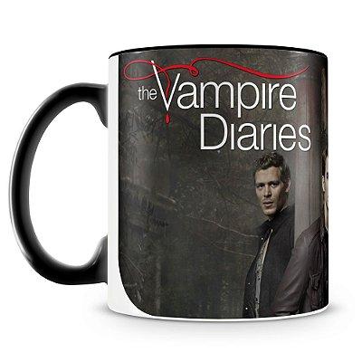 Caneca Personalizada Porcelana The Vampire Diaries - Mod.1 (preta)