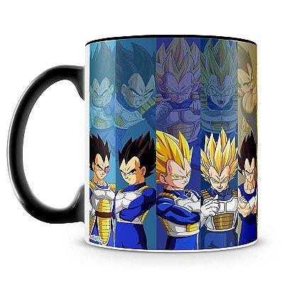 Caneca Personalizada Porcelana Dragon Ball Vegeta (Preta)