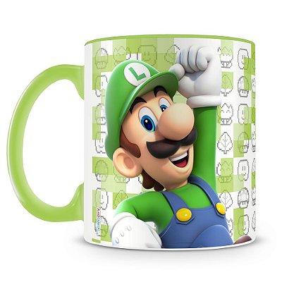Caneca Personalizada Porcelana Super Mario (Luigi)