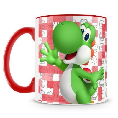 Caneca Personalizada Porcelana Super Mario (Yoshi)