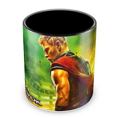 Caneca Personalizada Porcelana Thor Ragnarok - Mod.1 (Preta)