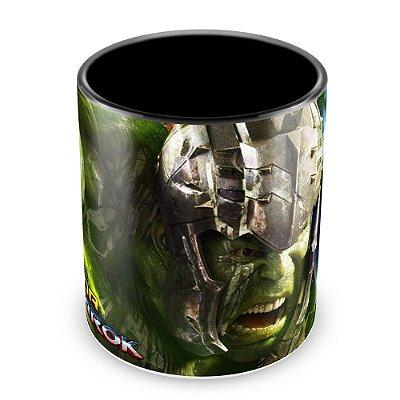 Caneca Personalizada Porcelana Thor Ragnarok - Mod.2 (Preta)