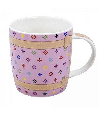 Caneca Porcelana Bolsa Rosa