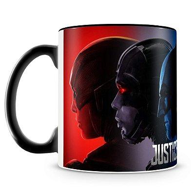 Caneca Personalizada Liga da Justiça (Preta) Mod.2