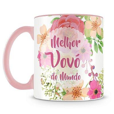 Caneca Personalizada Vovó Flores