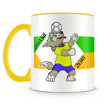 Caneca Personalizada Mascote Copa Mundo 2018 (Brasil)