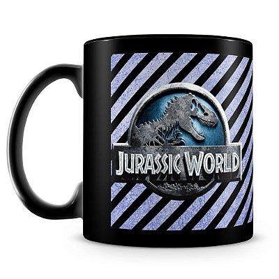 Caneca Personalizada Jurassic World (100% Preta)