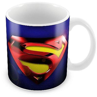 Caneca Personalizada Porcelana Escudo Super Homem