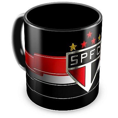 Caneca Personalizada Porcelana São Paulo Futebol Clube (Preta)