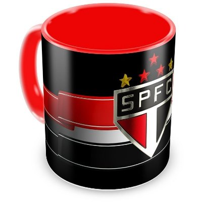 Caneca Personalizada Porcelana São Paulo Futebol Clube - Vermelha