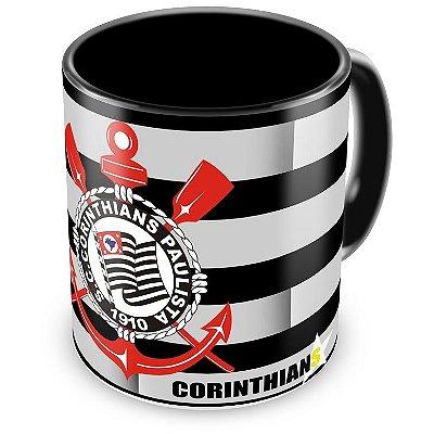 Caneca Personalizada Corinthians Futebol Clube Preta (Mod.1)