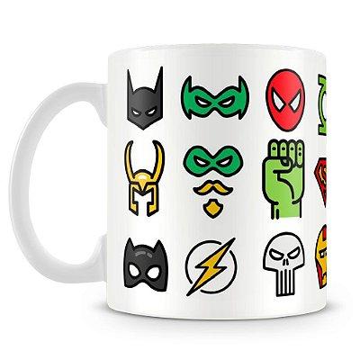 Caneca Personalizada Porcelana Super Heróis