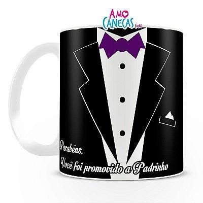 Caneca Personalizada de Porcelana - Padrinho de Casamento