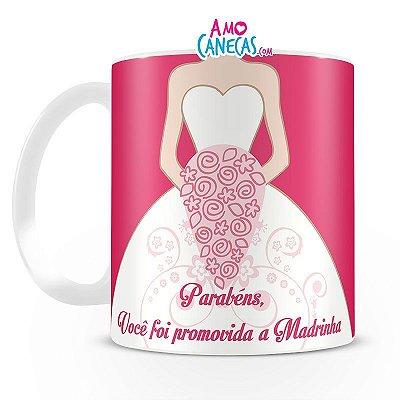 Caneca Personalizada Porcelana -  Madrinha de Casamento
