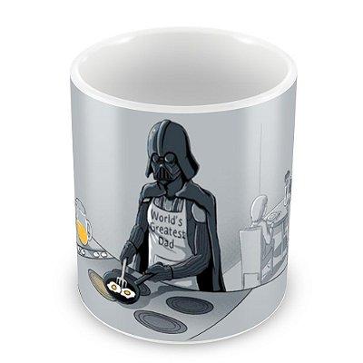 Caneca Personalizada Porcelana Darth Vader Café da Manhã