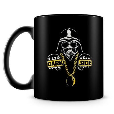 Caneca Personalizada Porcelana Darth Vader Dark Side (100% Preta)