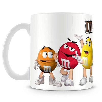 Caneca Personalizada Porcelana Chocolates M&Ms