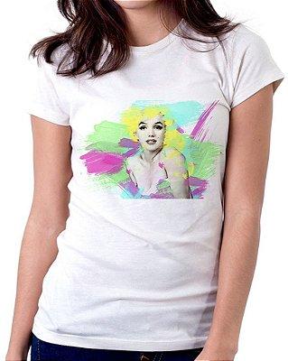 Camiseta Feminina Baby Look Personalizada Estampa Marilyn Monroe.