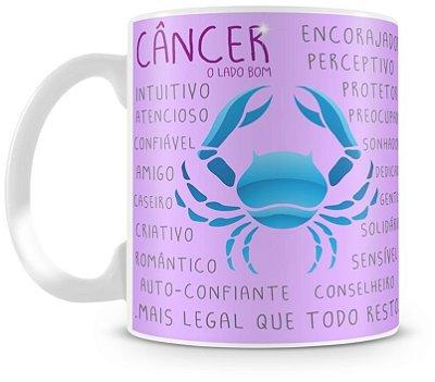Caneca Personalizada Porcelana Signo de Câncer