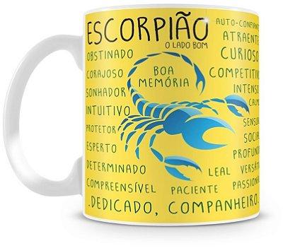 Caneca Personalizada Porcelana Signo de Escorpião