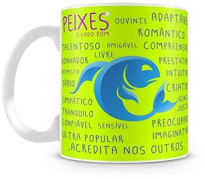 Caneca Personalizada Porcelana Signo de Peixes