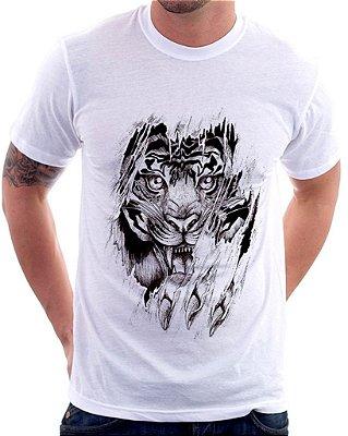 Camiseta Masculina Personalizada Estampa Tigre