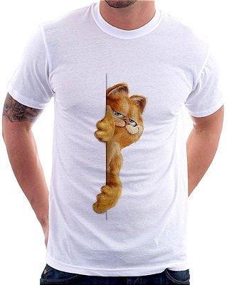 Camiseta Masculina Personalizada Estampa Garfield