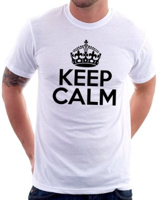 Camiseta Masculina Personalizada Estampa Keep Calm