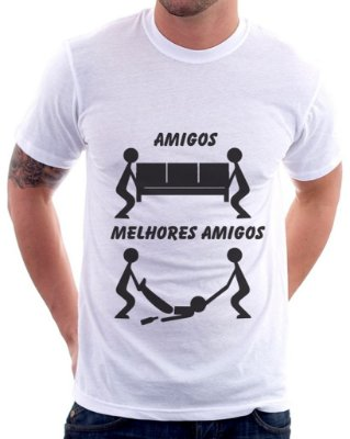 Camiseta Masculina Personalizada Estampa Melhores Amigos
