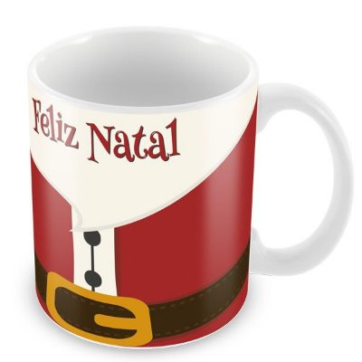 Caneca de Natal do Papai Noel