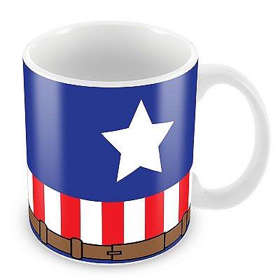 Caneca do Capitão América- Uniforme